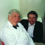 Pescara Festival 2003 ; Gunther Schuller e Riccardo Fassi Back Stage after the concert!
