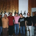 New York 2008 Studio System Two ; da sin  a destra Dave  Binney, Gary Smulyan, Antonio Sanchez, Riccardo Fassi, Alex Sipiagin, Andy Hunter, Essiet Essiet