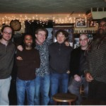 New York 2008 at 55 Bar  after the concert  :  Andy Hunter, Dave Binney, Riccardo Fassi, Alex Sipiagin, Andy Fischer, Essiet Essiet